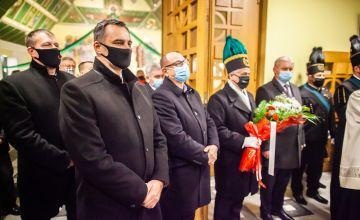 Starosta wraz z Burmistrzem Miasta Bierunia podczas mszy św.