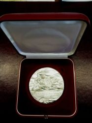Awers medalu dla Dalibora Horáka.